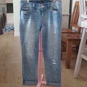 WHBM Straight Leg Crop jeans